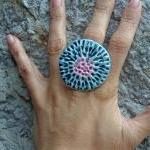 Blue and lavender ring Spring colle..